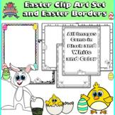 Easter Clip Art Set and Easter Worksheet Borders
