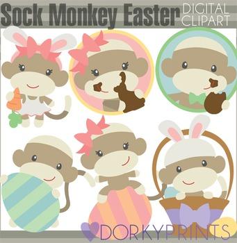 Easter Clip Art - Sock Monkey Easter