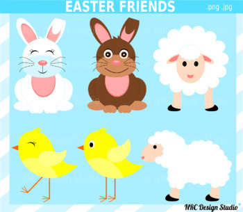 Easter Animals Clipart Commercial Use