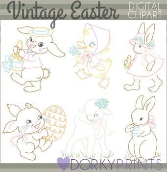 Easter Clip Art - Vintage Easter Clipart