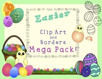 Easter Clip Art and Borders MEGA Pack!