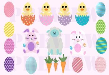 Easter Clip Art for personal or Commercial Use