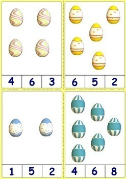 Easter Clip Cards - Count the Eggs