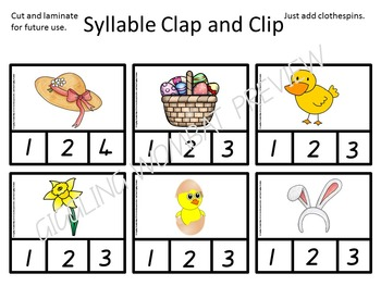 Easter Clip Cards