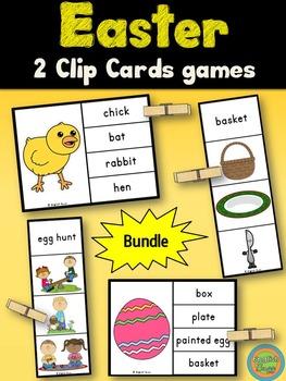 Easter - Clip Cards Bundle