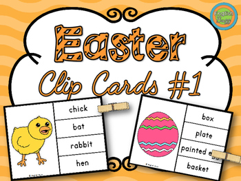Easter - Clip Cards Game #1
