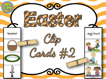 Easter - Clip Cards Game #2