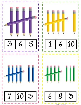 Easter Clip Cards Numbers 1 to 10