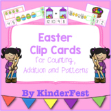 Easter Clip Cards for Counting, Addition, and Patterns