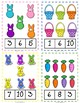 Easter Clip and Task Cards Numbers 1 to 10