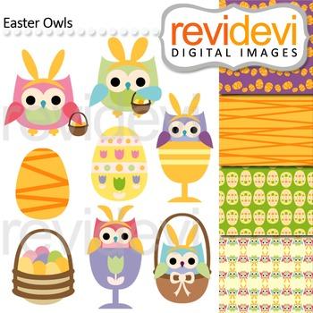 Easter Clip art / Easter owls