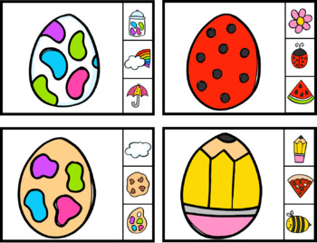 Easter Clip cards 10 sets of math fun