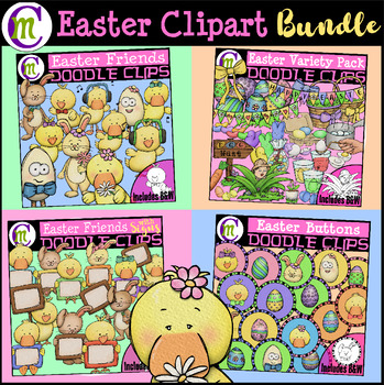 Easter Clipart GROWING BUNDLE  {Early Birds save over 70%!}