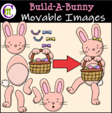 Easter Clipart || Build-A-Bunny || MOVABLE IMAGES CLIPART