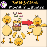 Easter Clipart || Build-A-Chick || MOVABLE IMAGES CLIPART