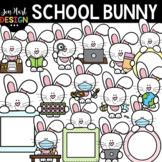 Easter Clipart - Bunny At School Clip Art - Jen Hart Design