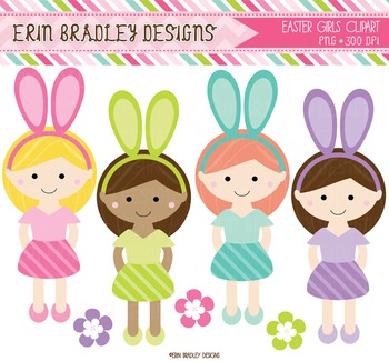 Easter Clipart - Digital Girls