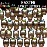 Easter Clipart - Easter Basket Letters Clip Art - Jen Hart Design