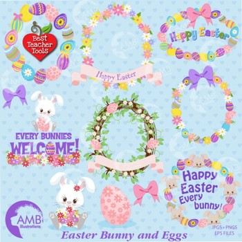 Easter Clipart, Easter Bunny Clipart, {Best Teacher Tools} AMB-1170