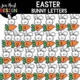 Easter Clipart - Easter Bunny Letters Clip Art - Jen Hart Design