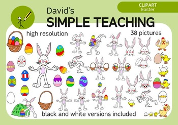 Easter Clipart + Easter Bunny emotions with free preview