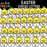 Easter Clipart - Easter Chick Letters Clip Art - Jen Hart Design