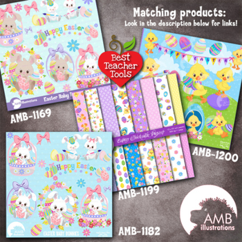 Easter Clipart, Easter Chicks Clipart, {Best Teacher Tools} AMB-1200