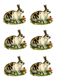 Easter Stickers, Easter Clipart, Easter Collage Sheet, Easter Bunny