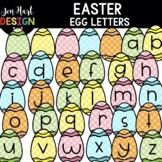 Easter Clipart - Easter Egg Letters Clip Art - Jen Hart Design
