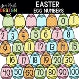 Easter Clipart - Easter Egg Numbers Clip Art - Jen Hart Design
