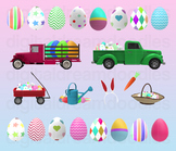 Easter Clip Art - Easter Egg Truck Digital Graphics
