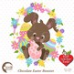 Easter Clipart, Easter Egg clipart, Chocolate Easter Bunny clipart, AMB-1176