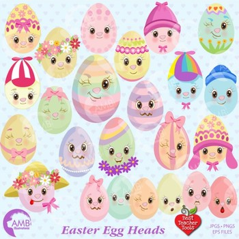 Easter Clipart, Easter Egg clipart, Emoticons clipart, Emo