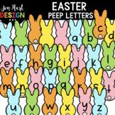 Easter Clipart - Easter Peeps Letters Clip Art - Jen Hart Design