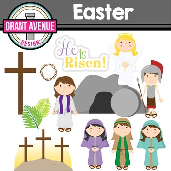 Easter Clipart - Easter Story Clipart - Religious Easter Clipart