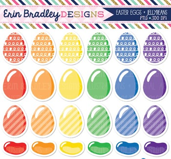 Easter Clipart - Eggs and Jellybeans