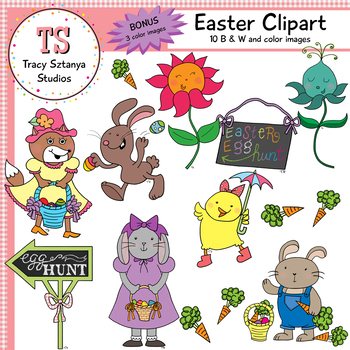Easter Clipart Set {Tracy Sztanya Studios}