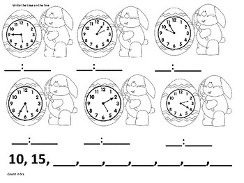 Easter Clocks and Coins