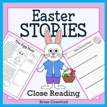 Easter Close Reading Passages - Stories and Writing Activities