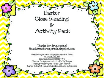 Easter Close Reading Activity Pack