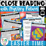 Easter Close Reading Comprehension w/ Mystery Picture Activity