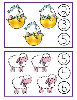 Easter Clothespin Counting Game
