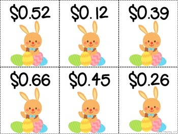 Easter Coin Bunny Money Freebie