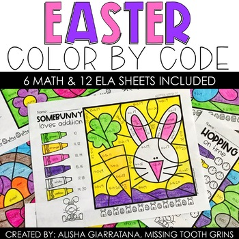 Color By Code Easter