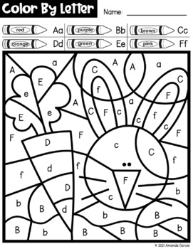 Easter Color By Letter {PRINT & GO}