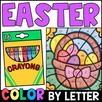 Easter Color By Letter