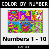 Easter Color By Number 1 - 10