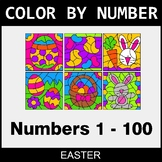 Easter Color By Number 1 - 100