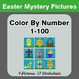 Easter Color By Number 1-100 | Easter Mystery Pictures