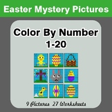Easter Color By Number 1-20 | Easter Mystery Pictures